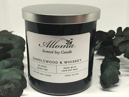 Sandlewood & Whiskey Candle (12oz)