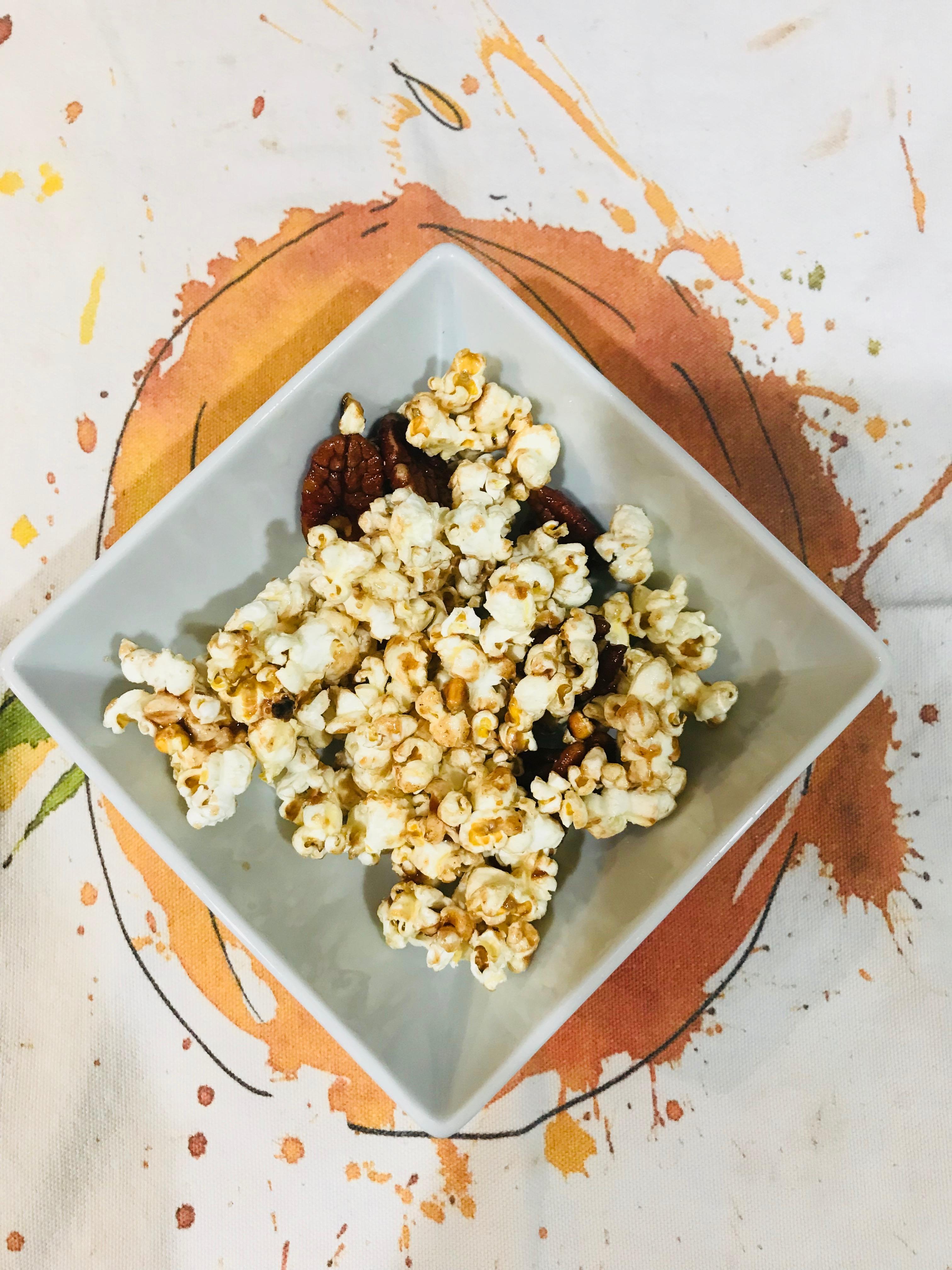 Caramelized Pecan Popcorn