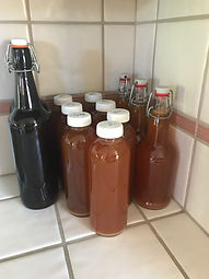 Bottled waiting to refrigerate