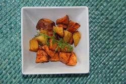 Roasted Golden Beets & Sweet Potatoe