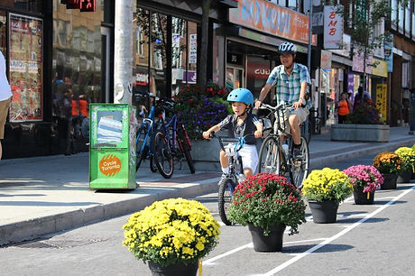 Bloor Bike Lane pop up at open streets -