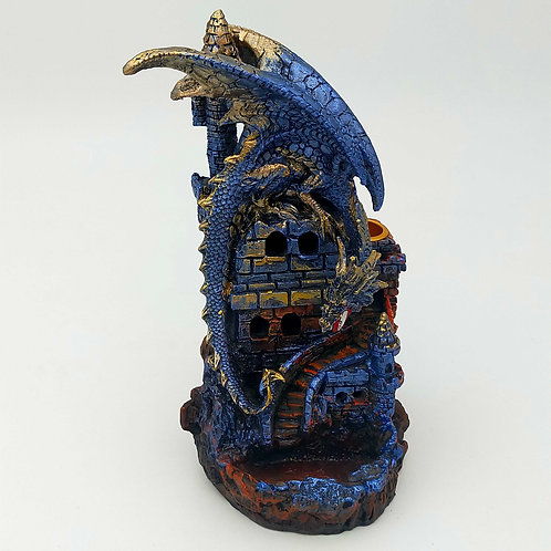 Blue Dragon on Castle Backflow Burner LED