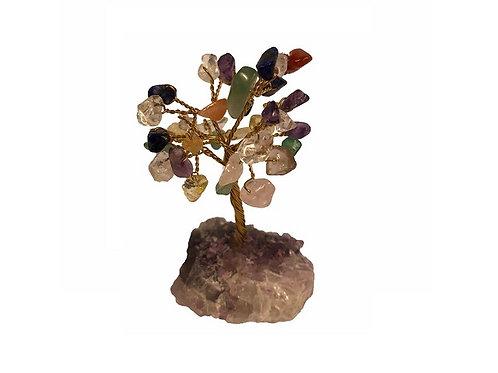 Multi Gem Tree Crystal Base 9cm