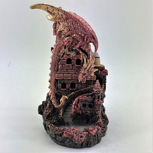 Dragon on Castle LED Backflow Burner