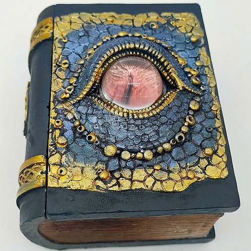 Blue Dragon Eye Book Trinket Box