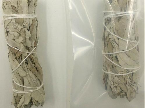 "Organic White Sage Small Smudge Stick 4"""