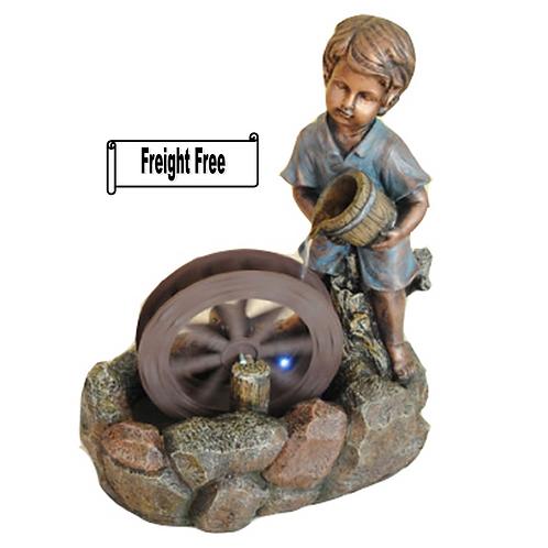 JMSW107 Boy with Water Wheel