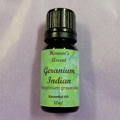 Geranium Indian Pure Therapeutic Oil 10mls $19