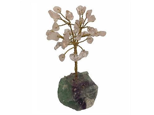 Rose Quartz Ge15m Tree Crystal Base 9cm