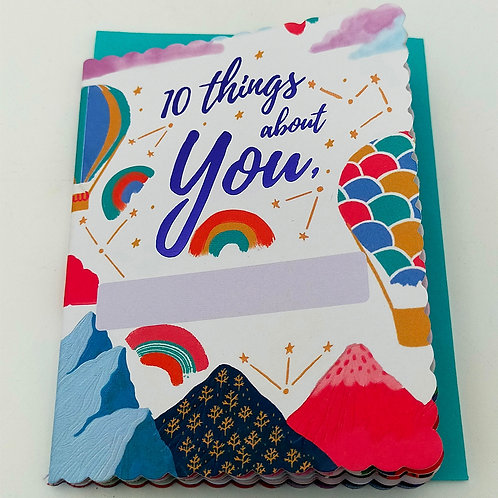 10Things About Thoughtful Card