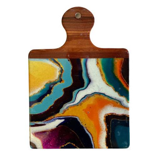 Ceramic Trivet Multi Colour Crystal