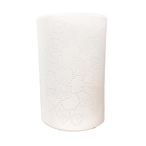 Flower Pattern Porcelain Lamp