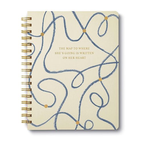 The Map to Where She's Going is Written on Her Heart Journal