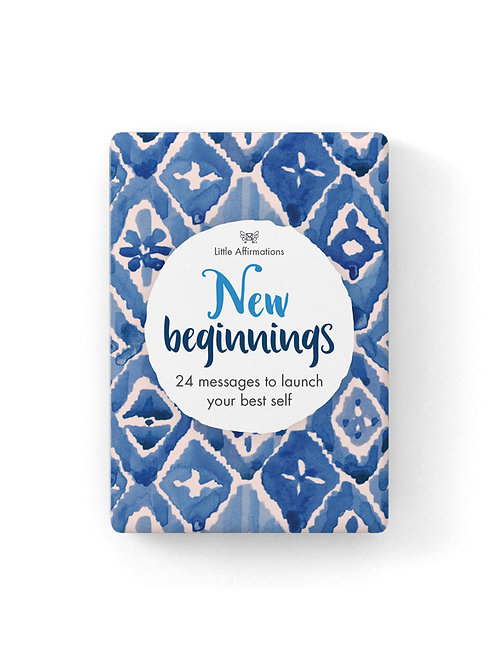New Beginnings Affirmation Cards