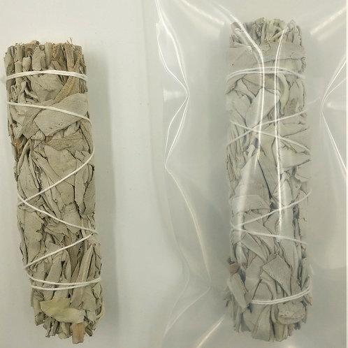 "Organic White Sage Medium Smudge Stick  5"""