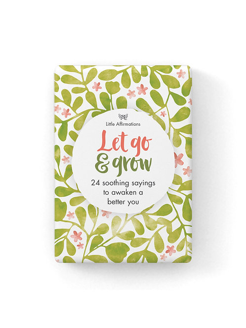 Let Go And Grow Affirmation Cards
