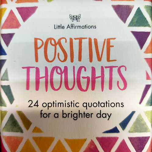 Positive Thoughts Little Affirmation Cards