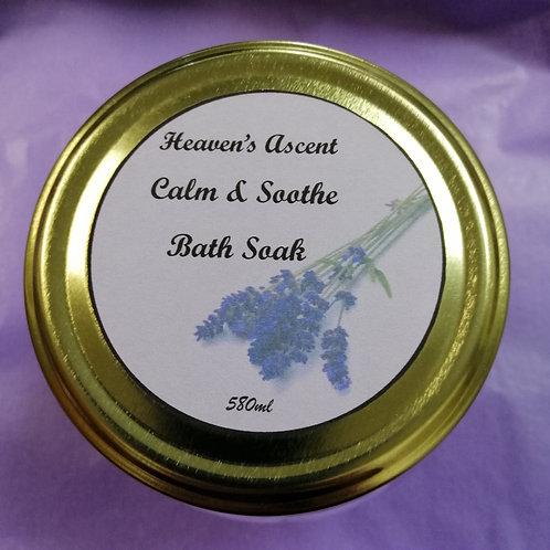 Calm and Soothe Bath Soak 580ml Jar