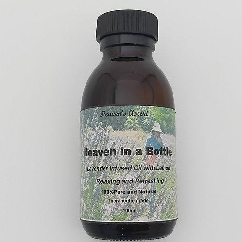 Heaven in a Bottle Massage Oil With Lemon100mls