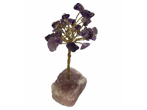 Amethyst Gem Tree Crystal Base 9cm