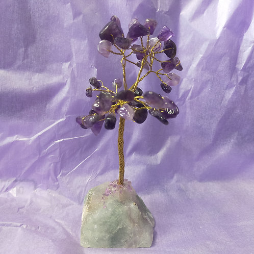 Amethyst Gemstone Tree Crystal Base