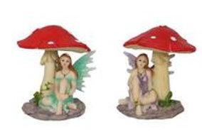 5cm Fairy Sitting Under Mushroom