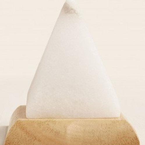 Pyramid White Salt lamp LED Mood Change
