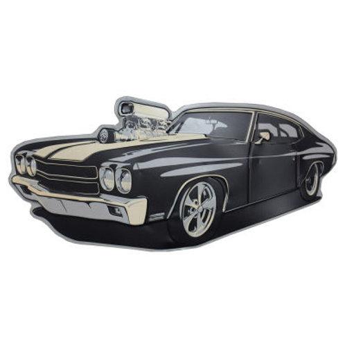 Black hot rod Chevelle