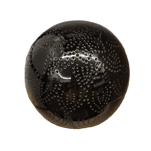Round Pattern Lamp Black