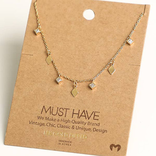 Diamond Shape Charm Necklace