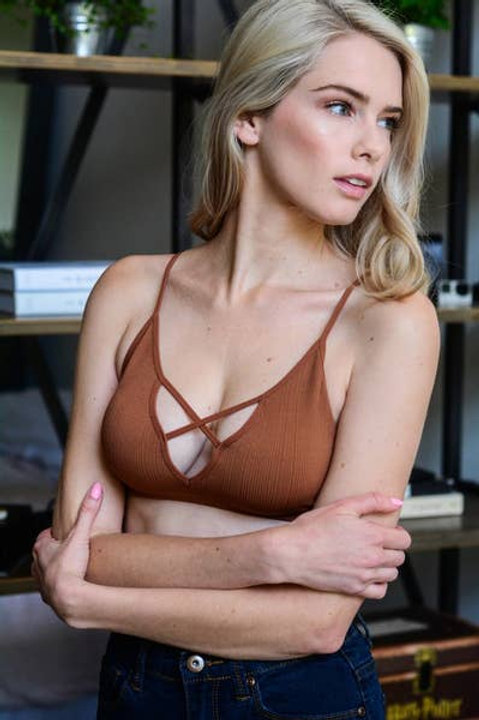 Copper Plunge Bralette