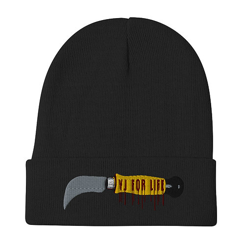 YJ for life Embroidered Beanie