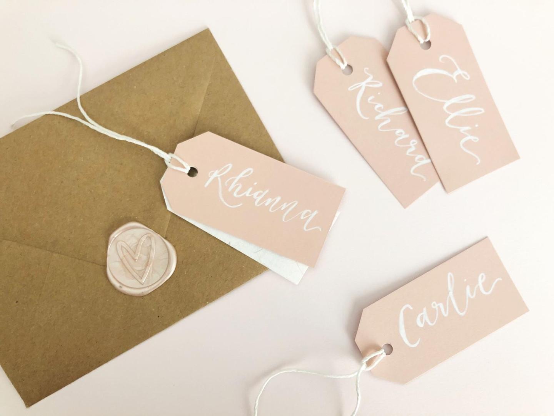 Blush Wedding table tags