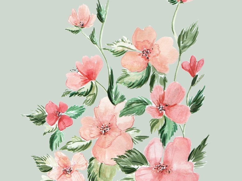 Peach Blooms Painting