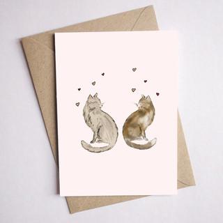 cat card love