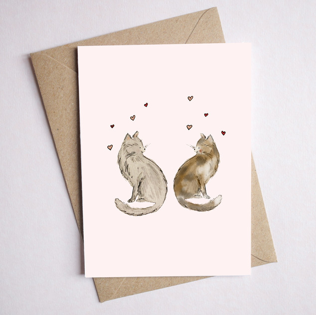 cat card love