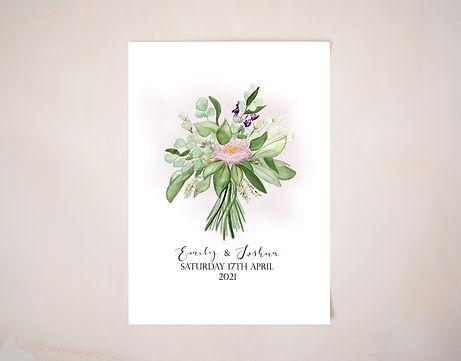 Wedding Bouquet Illustration