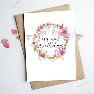 its your birthday card