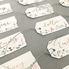 Wedding place name tag
