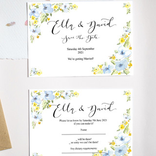 Blue and Yellow meadow florals - house design