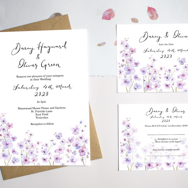 Lilac Flower Save the date