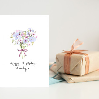 happy birthday lovely bunch card