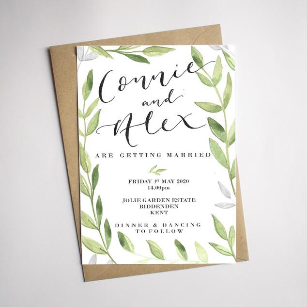 Foliage Design Invitation