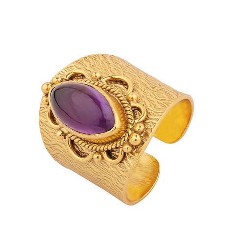 ANILLO BRONCE Y MINERAL