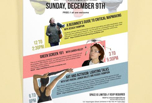 Digital Media Workshop Flier - Art + Activism