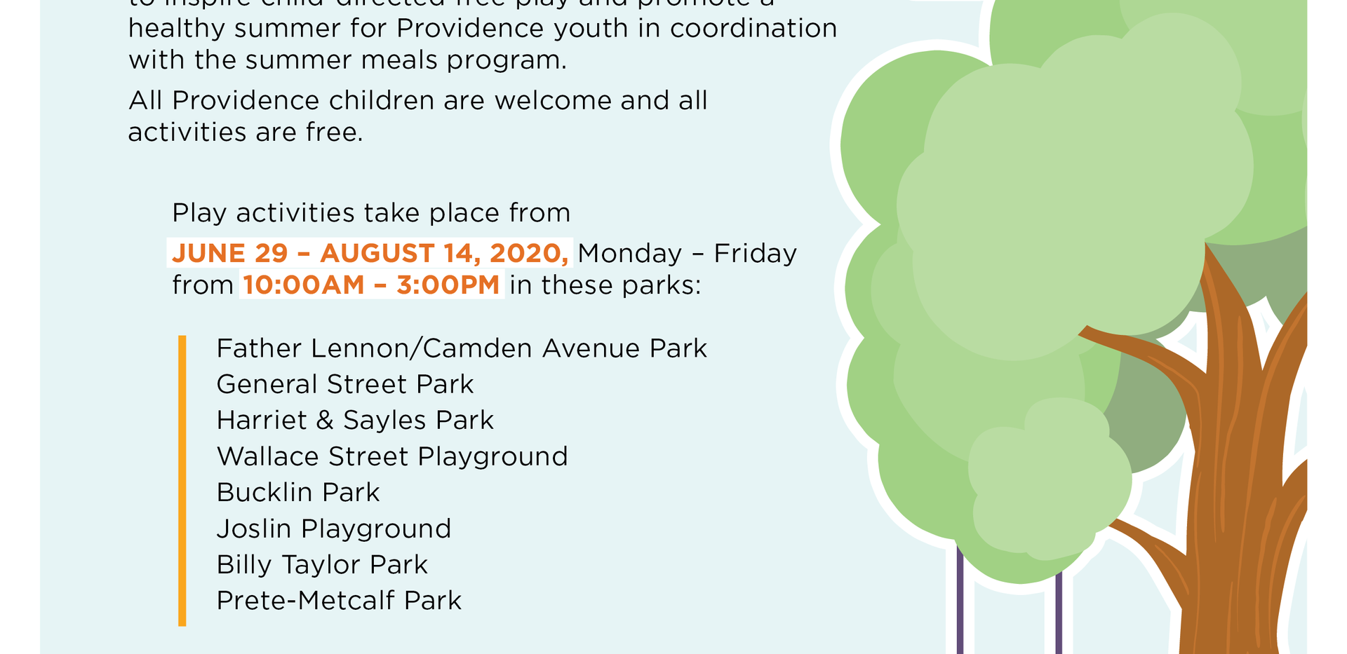 Providence PlayCorps Flyer