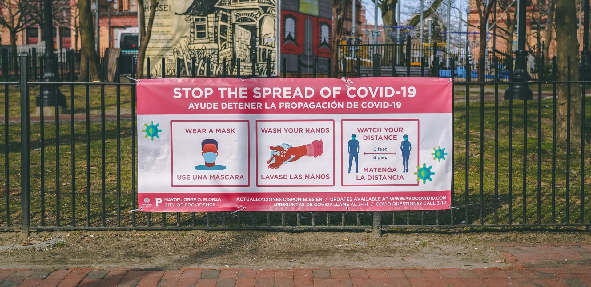 COVID | Stop the Spread Banner
