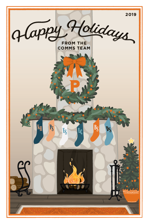 Communication's Office Holiday Card 2019