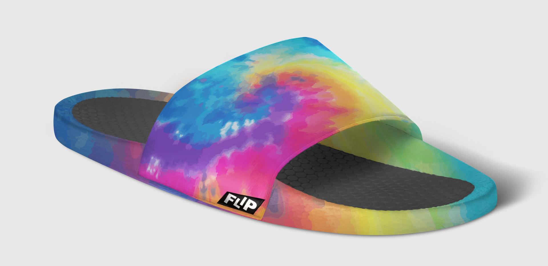 FLIP Apparel Co. | Tie Dye Slide Side