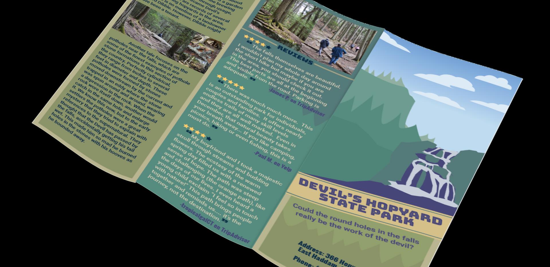 The Devil's Hopyard | Brochure Outside